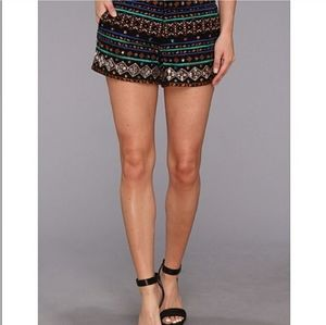 Lucky Brand Multicolor Embroidered Sequin Shorts S